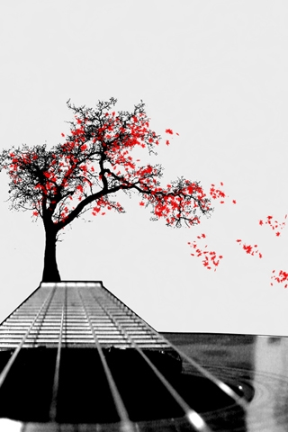 Guitar Tree iPhone Wallpaper