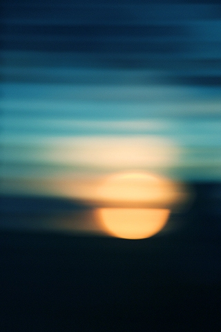 Watery Sun iPhone Wallpaper