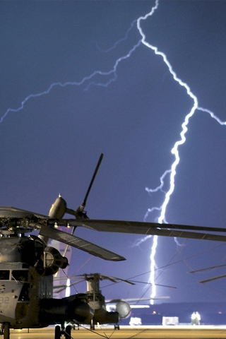 Lightning Chopper iPhone Wallpaper