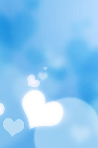 Blue Heart IPhone Wallpaper
