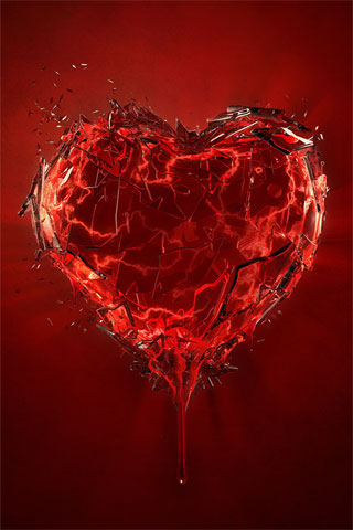 Shattered Heart iPhone Wallpaper