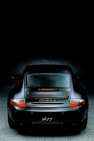 Black Porsche Carrera 911 Iphone Wallpaper Idesign Iphone