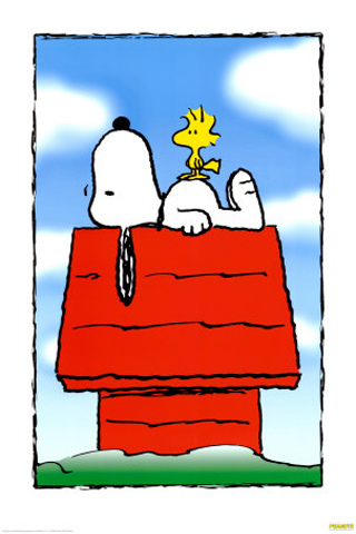 Snoopy + Woodstock iPhone Wallpaper
