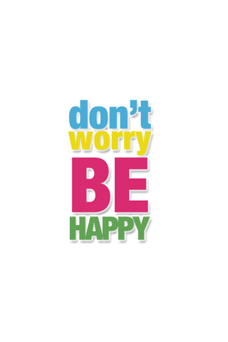 Don't Worry, Be Happy iPhone Wallpaper