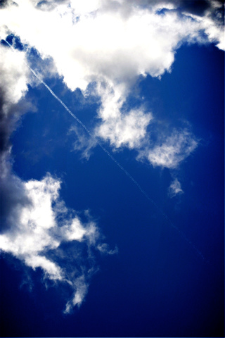 Jet Trail iPhone Wallpaper