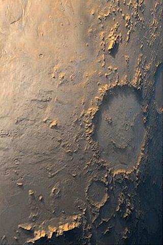 Moon Crater iPhone Wallpaper