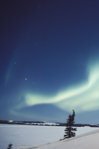 Northern Lights iPhone Wallpaper