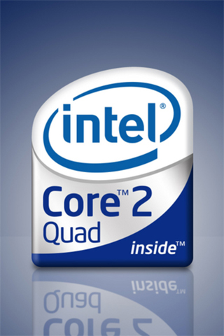 Intel Quad Core iPhone Wallpaper