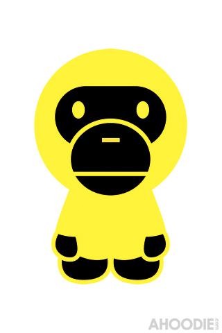 Yellow Baby Milo iPhone Wallpaper
