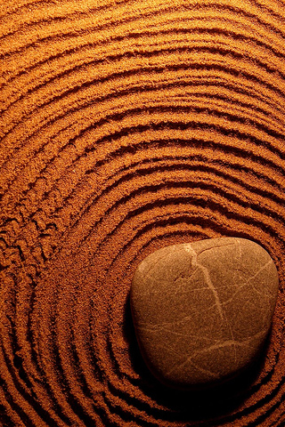 Rippling Sand iPhone Wallpaper