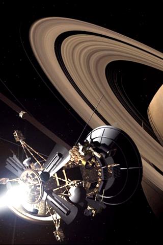Saturn Probe iPhone Wallpaper