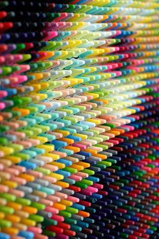 Crayon Face iPhone Wallpaper