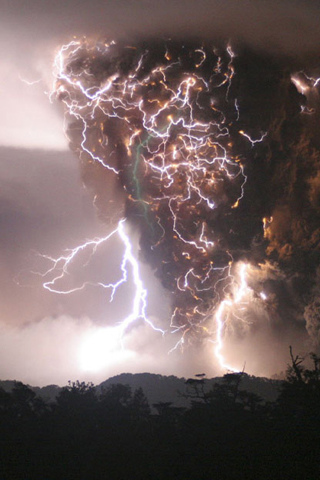 Electrical Storm iPhone Wallpaper