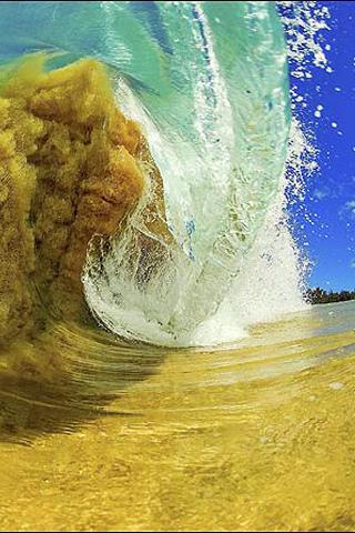 Sandy Wave iPhone Wallpaper