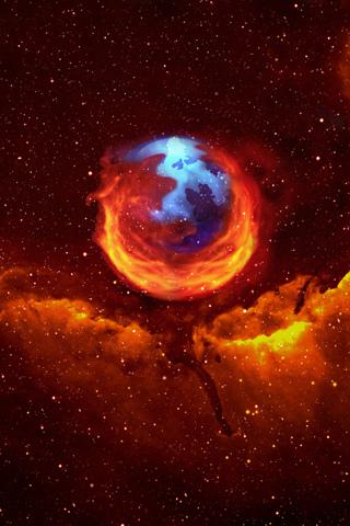 Firefox Celestial Body iPhone Wallpaper