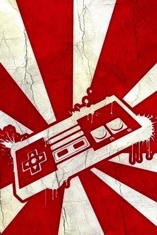 Rising Nintendo Controller iPhone Wallpaper