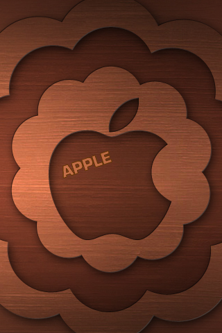 Brown Apple iPhone Wallpaper