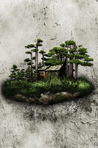 Isolated Land iPhone Wallpaper