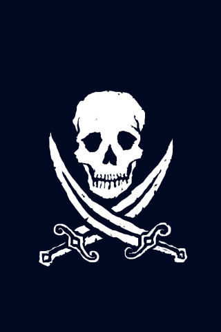 Jolly Roger - Pirate iPhone Wallpaper