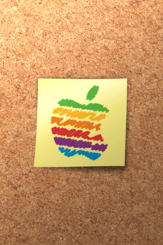 Crayola Apple iPhone Wallpaper