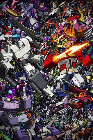 Transformers Collage iPhone Wallpaper