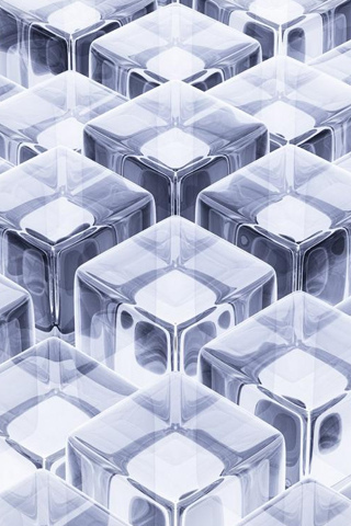 Glass Cubes IPhone Wallpaper