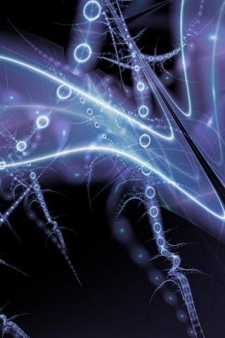 Plasmic Alien iPhone Wallpaper