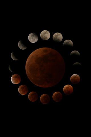 Lunar Eclipse iPhone Wallpaper