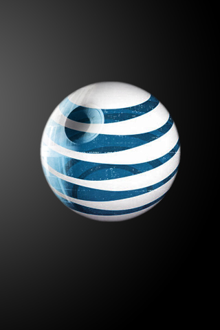 AT&T Death Star iPhone Wallpaper