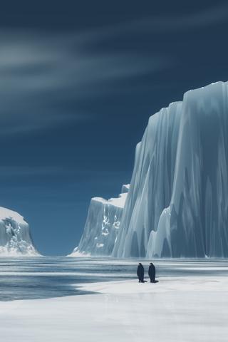 Arctic Home iPhone Wallpaper