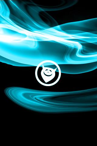Blue Devil Logo iPhone Wallpaper