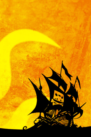 Cassette Tape Pirate Ship iPhone Wallpaper