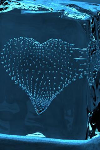 Frozen Heart Bubble iPhone Wallpaper