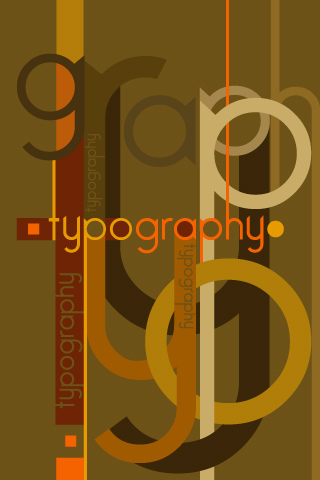 Typography iPhone Wallpaper