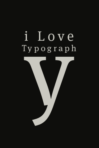 I Love Typography iPhone Wallpaper