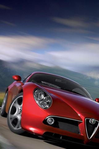 Alfa Romeo 8C Competizione iPhone Wallpaper