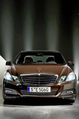 Brown Mercedes iPhone Wallpaper