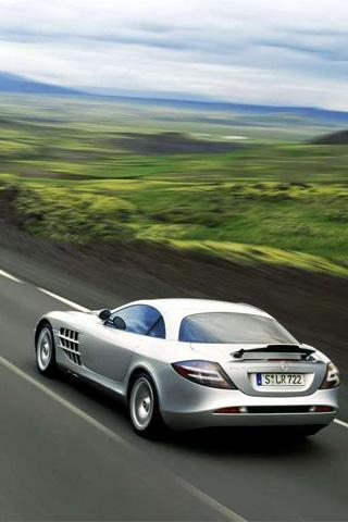 Mercedes Benz SLR McLaren iPhone Wallpaper