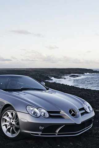 Mercedes Benz SLR McLaren AMG iPhone Wallpaper