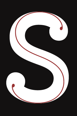 S - Typography iPhone Wallpaper