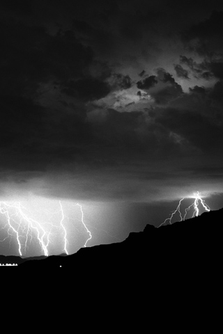 Lightning Storm iPhone Wallpaper