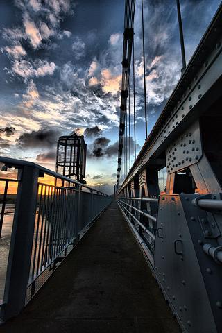 Bridge Sidewalk iPhone Wallpaper