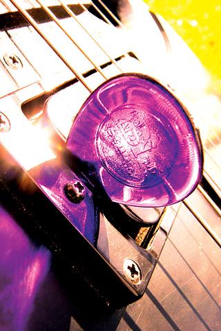 Purple Guitar Pick iPhone Wallpaper