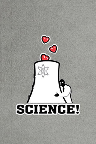 Science - Heart Nuclear iPhone Wallpaper