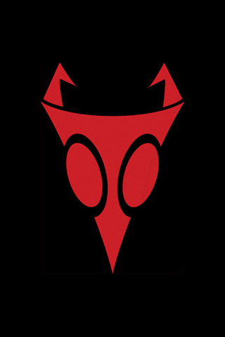 Invader Zim Logo iPhone Wallpaper