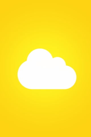 Cartoon Cloud iPhone Wallpaper