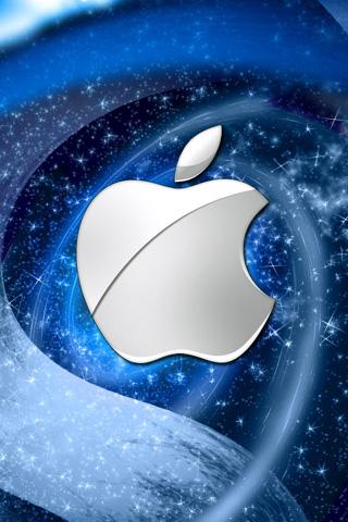 Winter Apple Logo iPhone Wallpaper