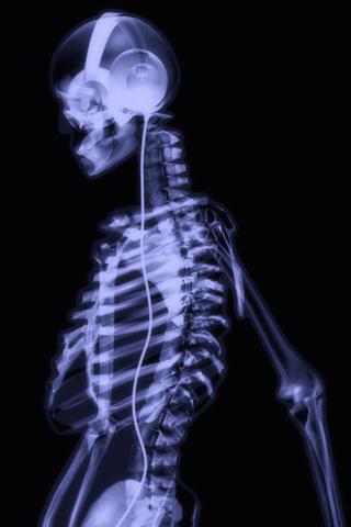 Skeleton Tunes iPhone Wallpaper