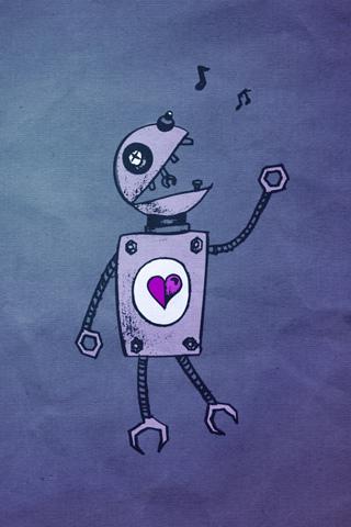 Old Singing Robot iPhone Wallpaper