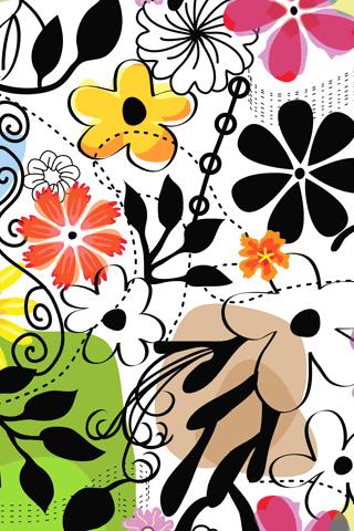 Flower Sensation iPhone Wallpaper